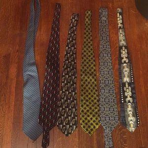 Different brands ties